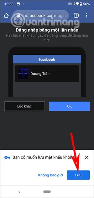 Mật khẩu Facebook Android
