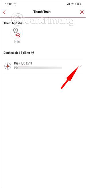 Cách đóng tiền điện tự động với Techcombank trên F@st Mobile