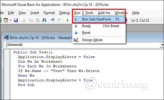 Cách xóa nhanh nhiều sheet trong Excel - Ảnh minh hoạ 7