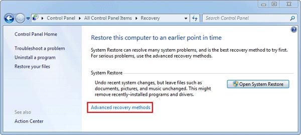 Khôi phục cài đặt gốc cho laptop Dell Windows 7