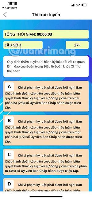 Cách thi trực tuyến trên app Thanh Niên Việt Nam - Ảnh minh hoạ 8