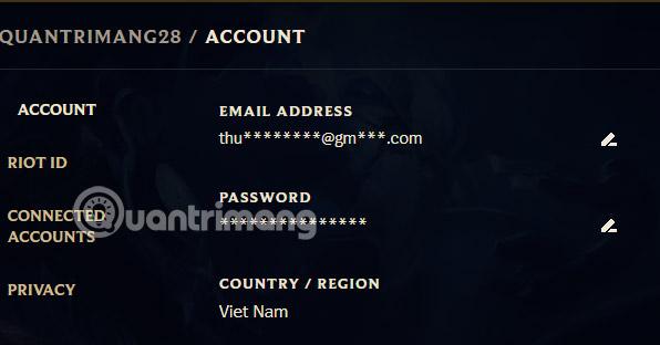 đổi tài khoản tốc chiến về Việt Nam