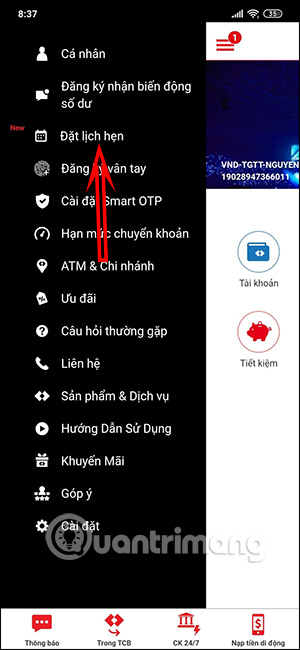Cách đặt lịch hẹn giao dịch online trên F@st Mobile