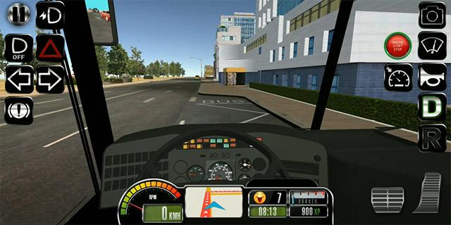 game lái xe khách trên điện thoại