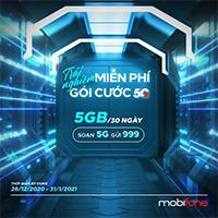 Cách nhận 5GB data 5G MobiFone miễn phí