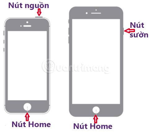 Chụp màn hình iPhone 4, 5, 6, 7, 8