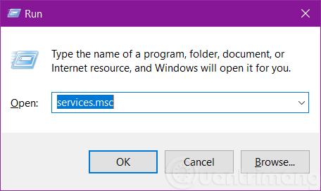 Mở Windows Services