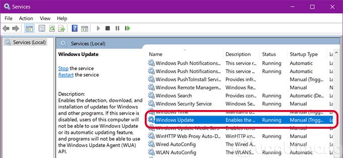 Tìm Windows Update