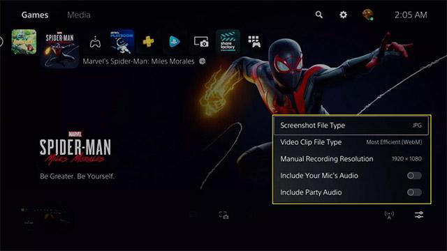 Tùy chọn cho video quay màn hình