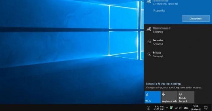 Sửa lỗi PC Windows 10 không phát hiện ra mạng WiFi 5GHz