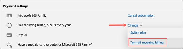 Cách tắt tự động gia hạn Microsoft 365 - Ảnh minh hoạ 4