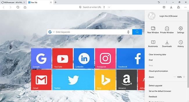 UC Browser có tính năng đồng bộ đám mây
