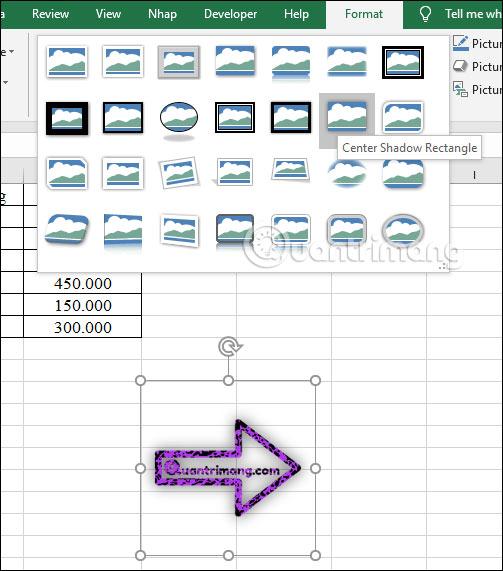hướng dẫn chèn một hình ảnh vào bảng tính excel