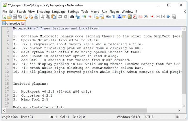 Notepad++ là một trình soạn thảo code và văn bản mã nguồn mở, miễn phí