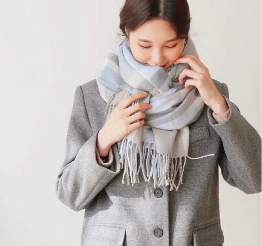 Quàng khăn len đẹp