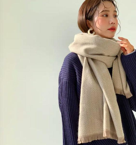 Quàng khăn đơn giản nhưng đẹp