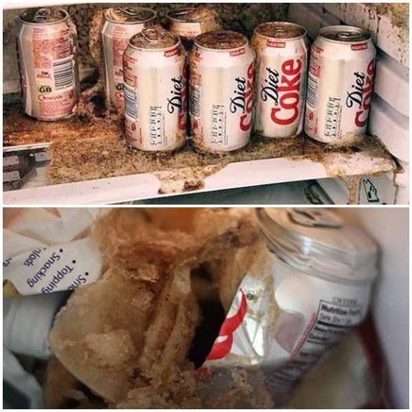 Đồ uống có ga khi để lên ngăn đông tủ lạnh có thể dẫn đến phát nổ như bom
