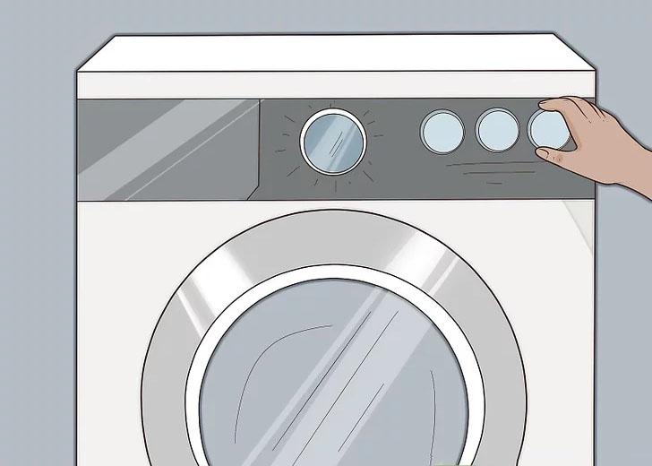 Khởi động ngắn quá trình giặt không cần quần áo để kiểm tra bộ lọc cặn đã được lắp đúng chưa