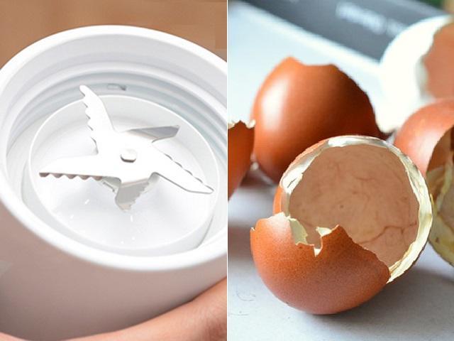 Vỏ trứng sẽ khiến lưỡi dao của máy xay sinh tố sắc bén hơn
