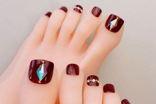 Mẫu nail chân đẹp 4