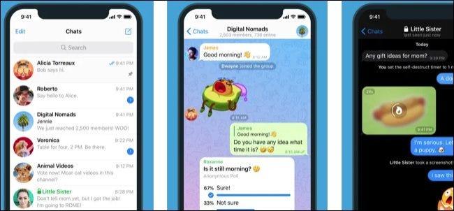 Telegram hỗ trợ một số tính năng thú vị mà Signal không có