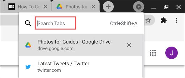 Tính năng Tab Search