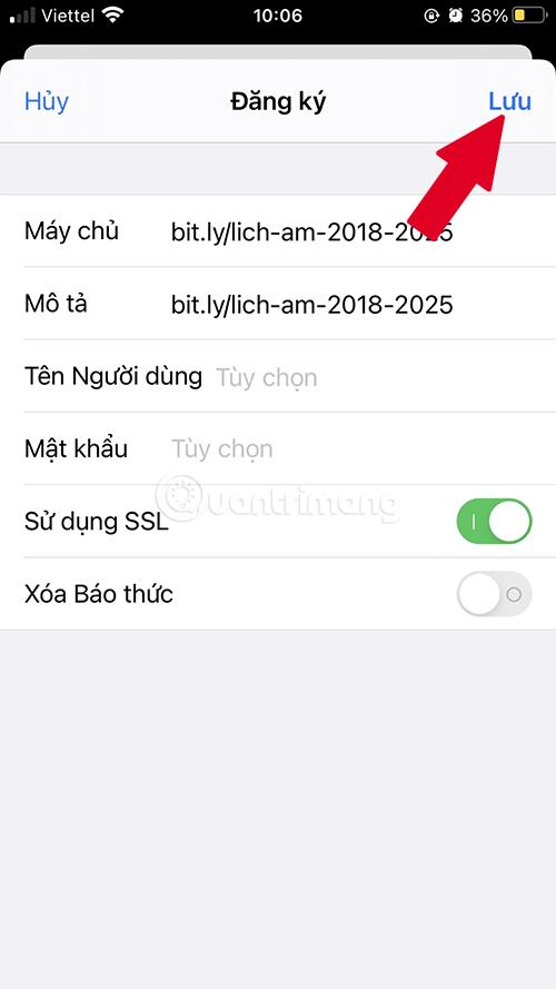 Lưu lịch âm cho Lịch của iPhone