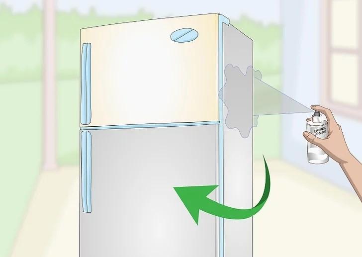 Xịt toàn bộ tủ lạnh bằng lớp sơn lót