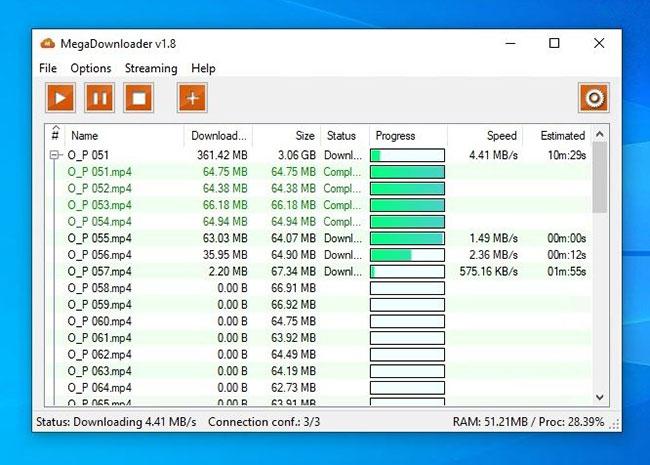 MegaDownloader là dịch vụ tải xuống file miễn phí, tốc độ cao với bộ nhớ đám mây tích hợp