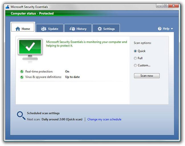 Microsoft Essentials âm thầm bảo vệ bạn khỏi tất cả các loại tấn công đến từ phần mềm độc hại