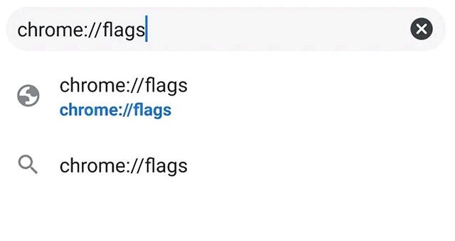 """Nhập """"chrome://flags"""""""