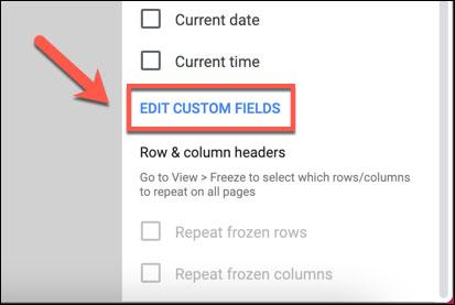 Cách chèn Headers, Footers trong Google sheets - Ảnh minh hoạ 4