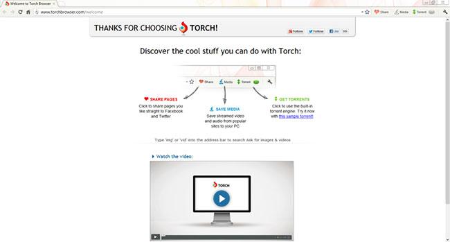 Torch Browser là một trình duyệt có khả năng thay thế cho Google Chrome
