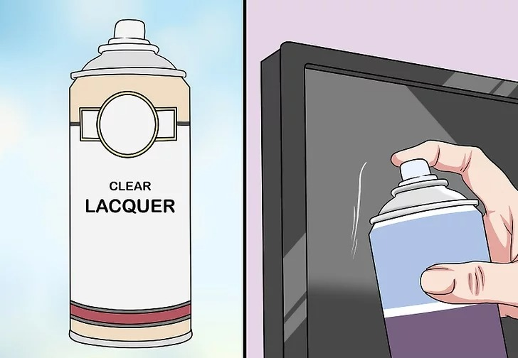 Sử dụng bình xịt sơn mài xịt lên vết xước