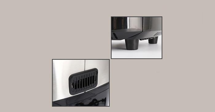 Thiết kế đế chống trượt dưới đáy sản phẩm và bộ tản nhiệt