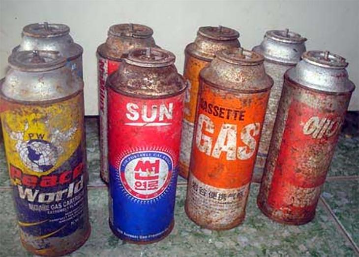 Bình gas, bếp gas cũ, kém chất lượng