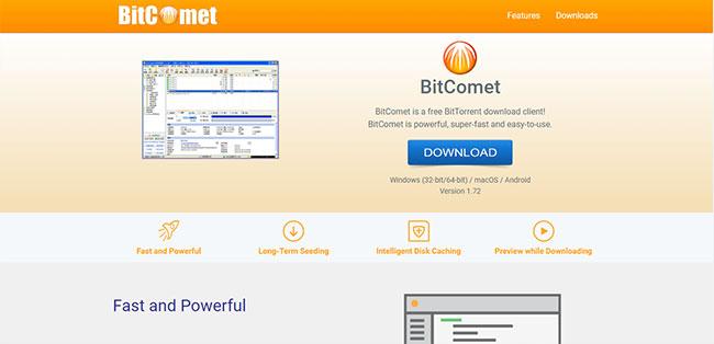 BitComet là một BitTorrent client miễn phí được thiết kế cho Microsoft Windows