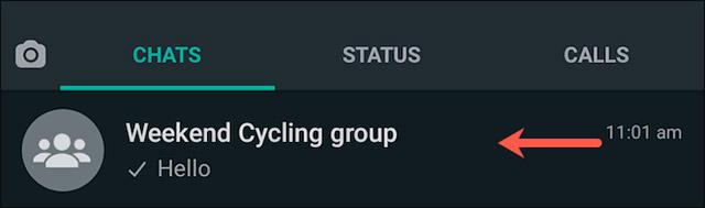 Nhấn vào tên nhóm