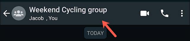 Bấm vào phần tiêu đề nhóm