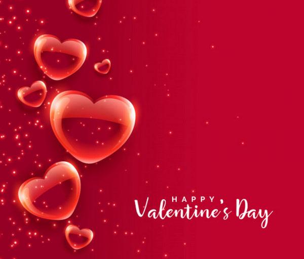 Ảnh Valentine nổi bật với màu đỏ, hồng và trắng - màu của Valentine