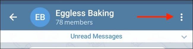 Tap the three-dot menu icon