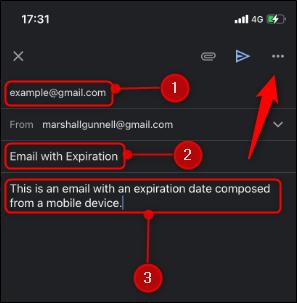 Bấm vào biểu vào biểu tượng ba dấu chấm ngang