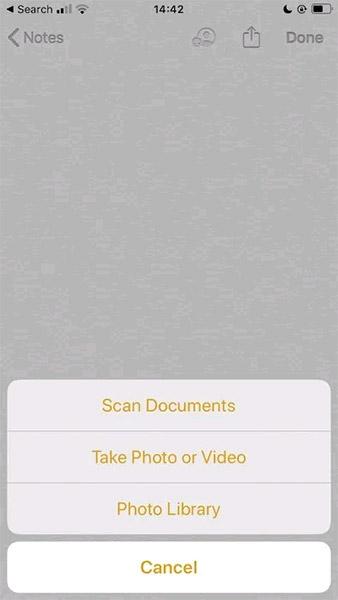 Nhấn vào Scan Documents