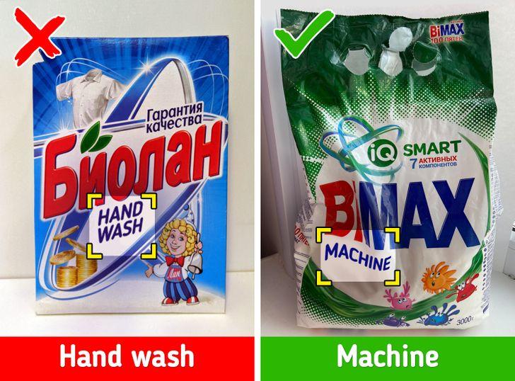 Sử dụng bột giặt không dành cho máy giặt