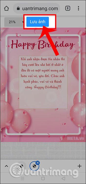Thiệp sinh nhật trên điện thoại