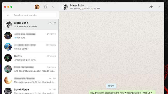 Phiên bản WhatsApp cho PC rất giống với phiên bản web và di động