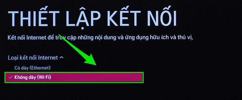Kết nối mạng cho tivi