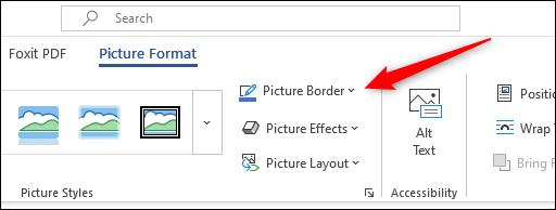 "Bấm chọn ""Picture Border"""