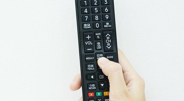 Chọn Menu trên điều khiển tivi