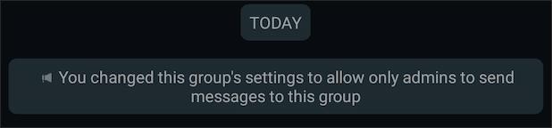 Thông báo nhóm chat